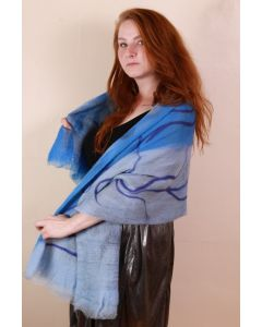 Skylight Blue Color Scarf