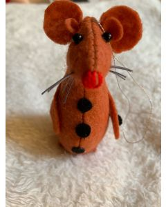Christmas Tree Ornament. Handmade Orange Rats.