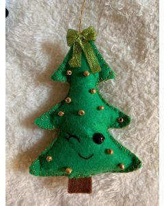 Christmas Tree Ornaments. Green Trees