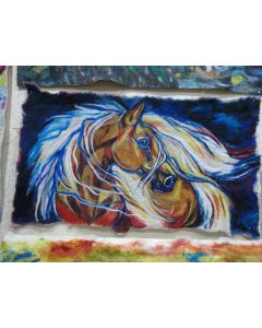 Multicolored Horse Portrait