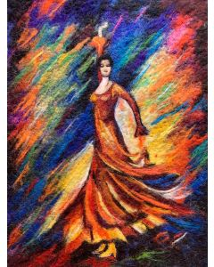 Dancer in Colorful Dress