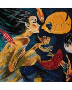 Girl with Fish by Fathah Hallah Abdel
