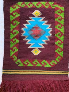 Tapestry Wall Rug in Burgundy