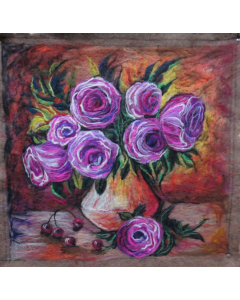 Purple Roses and Red Cherries