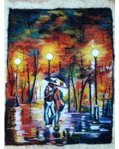 Couple in Rainy Day by Leonid Afremov